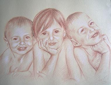 3 Figures (format 40 x 50 cm)