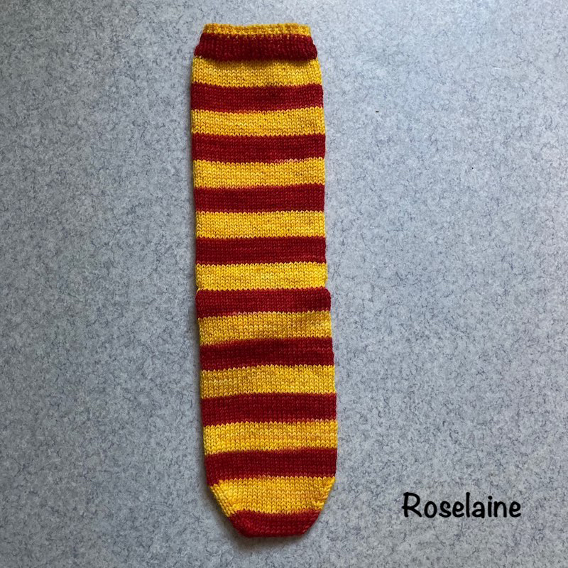 Roselaine Chaussettes Harry Potter Laines Biscottes Tricot Socks 3