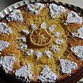 Moelleux aux jus et zestes des fameux citrons de menton