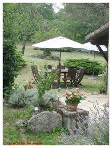 terrasse 2 gite du lac audry