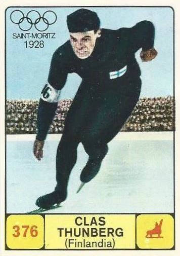 JO 1924 Chamonix Image Panini Finlandais Clas Thunberg