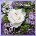bouquet de mariée roses stabilisées ANAIS