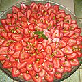 Tarte aux fraises et à la pistache