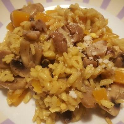 risotto au safran, butternut et champignons! (2)