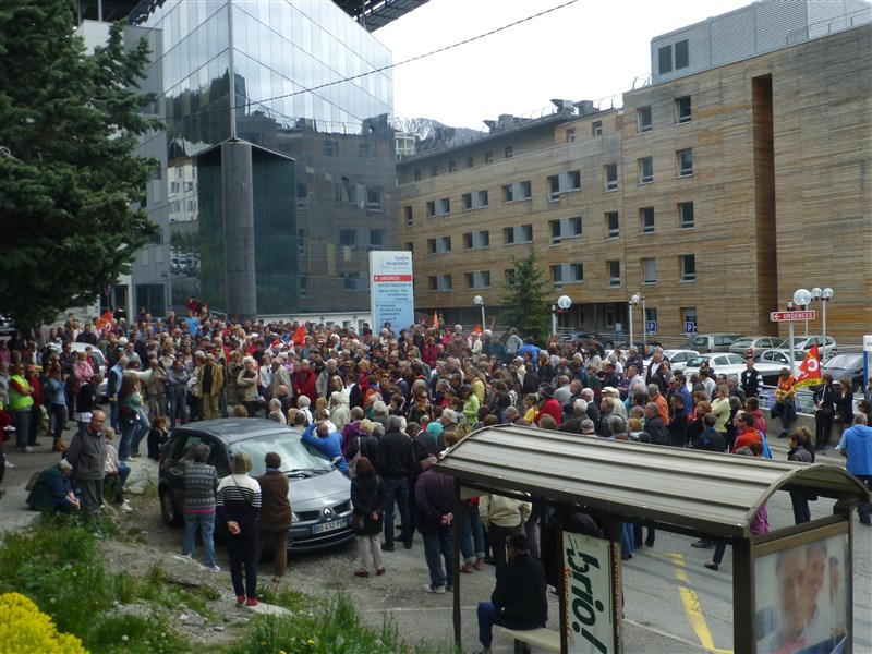 Manif du 12 mai 2014 Hôpital Briançon