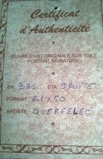 Certificat authencite marine de Queffelec