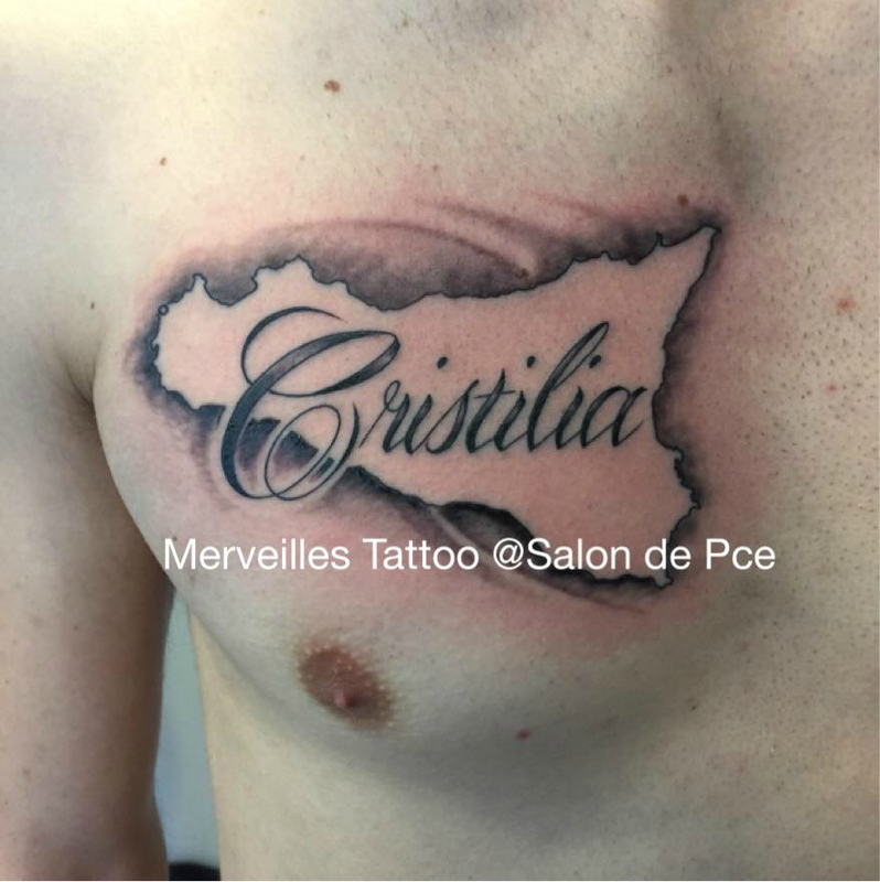 tattoo, carte sicile, christilia, tatoueur 13