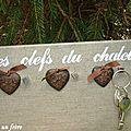 porte-clefs coeurs fonte
