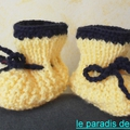 Chaussons-bottines 0- 1 mois