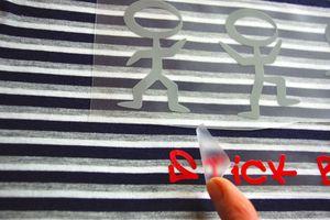 Une Petite Fourmi - tutoriel pose de flex thermocollant sur du textile - 4