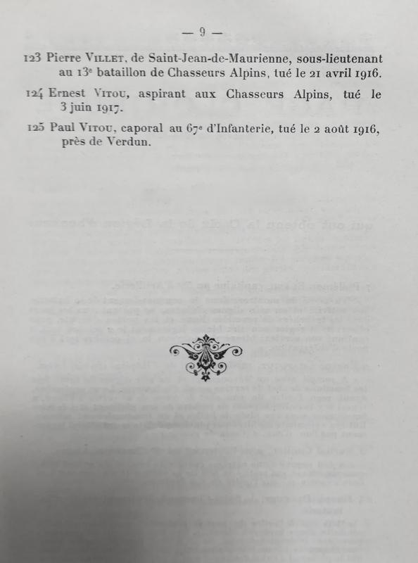liste anciens élèves Sainte-Marie tués, 1914-1918 (9)