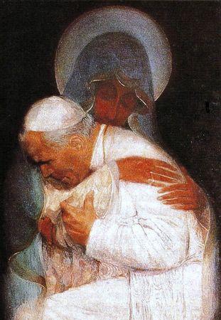 Marie et Jean Paul II