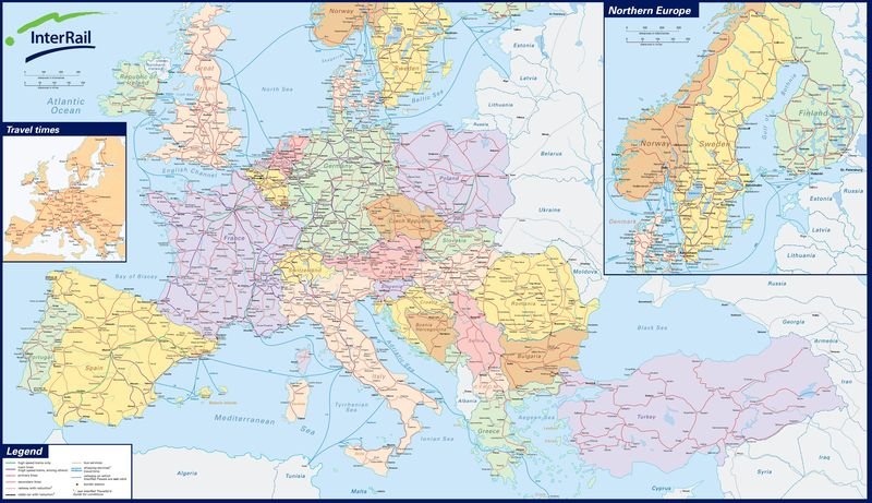 Carte Europe Pdf.Carte Des Trains Interrail Blog Les Aventuriers Du Rail