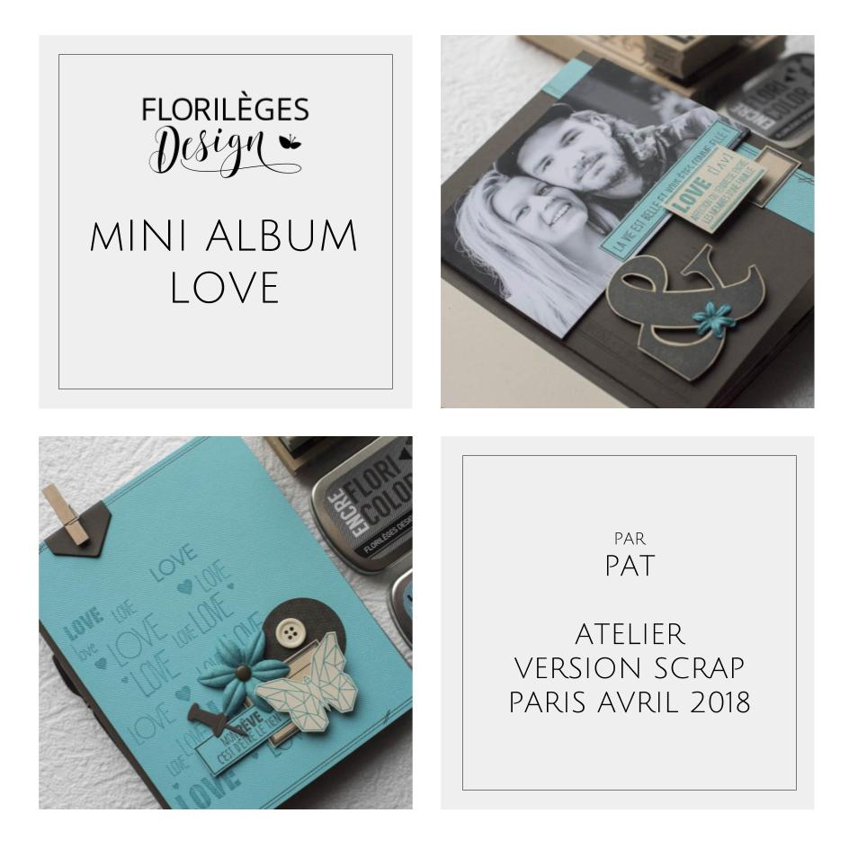 Slide mini album de Pat : atelier Version Scrap 2018