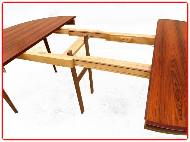table scandinave 1960 palissandre