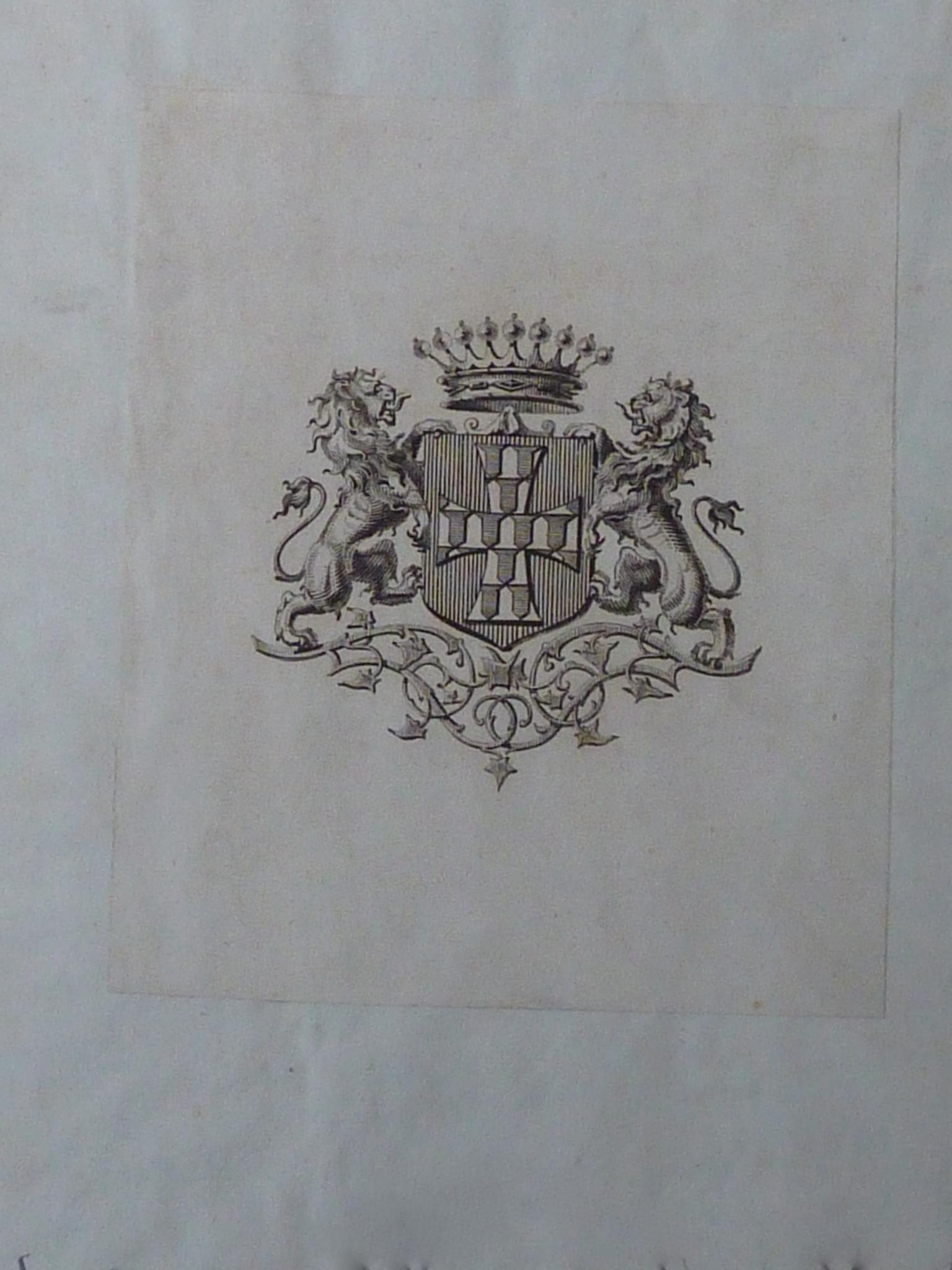Ex-libris armorié du comte de Clervaux possesseur du recueil P1270843
