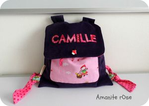 Sac à dos maternelle Camille