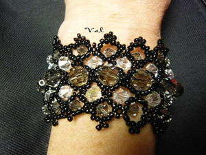 Bracelet dentelle de pêrles