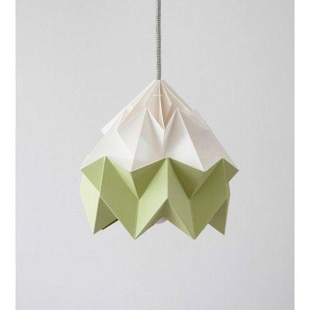papier_lamp_snowpuppe_moth_groen_wit_origami_zijkant_1_