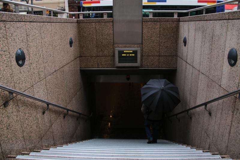 Entrée de la station de métro Jeanne d'Arc