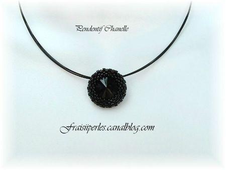 pendentif Chanelle noir 1