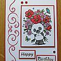 Un panda vous offre des fleurs !