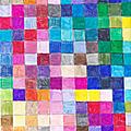 Création dessinée carrés de couleurs