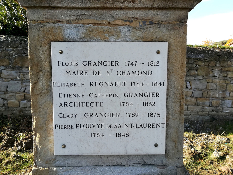 tombe Étienne Catherin Grangier, architect (1784-1862) (2)
