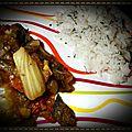 Ratatouille de légumes et son riz a la coriandre