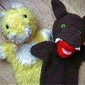 Marionettes chat et loup