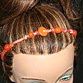 bijoux cheveux orange a