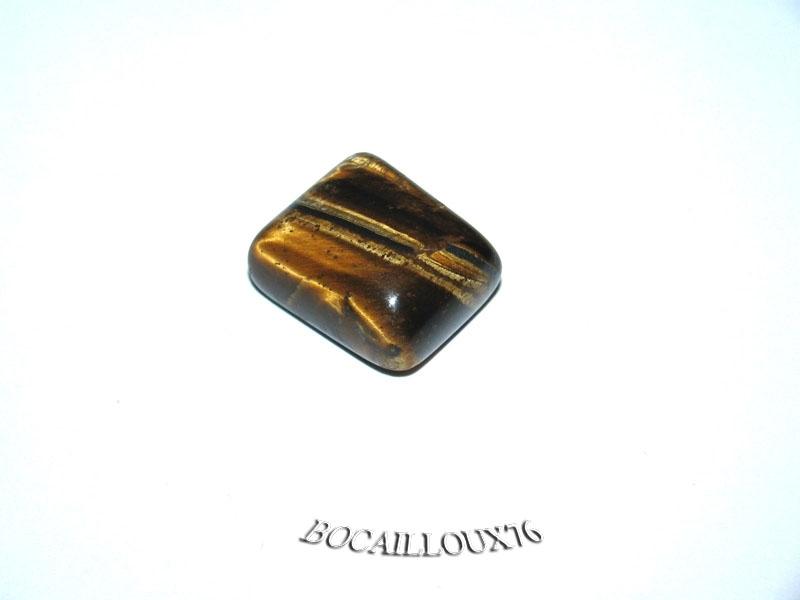CABOCHON 18x16x9 OEIL de Tigre 36 Rect. - Pour CREATION
