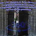 9 août 1795 belleville, le général charette en représailles des massacres de quiberon fait exécuter ses prisonniers