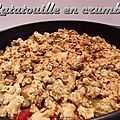 Ratatouille en crumble