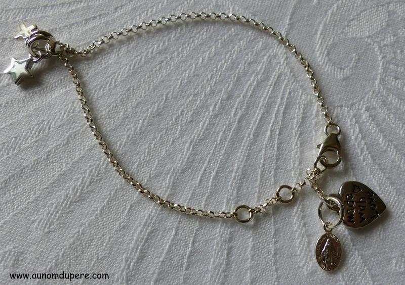 Bracelet Regarde l'Etoile (détails de la médaille miraculeuse) - 46 €