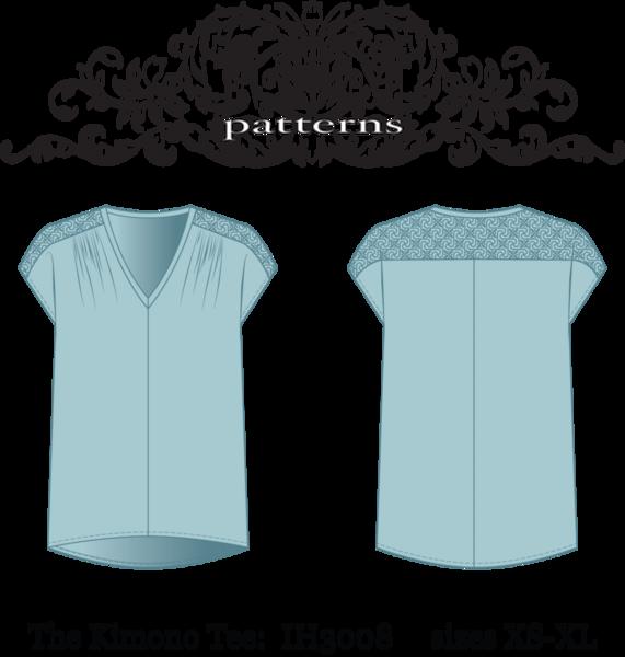 In-House Patterns - Kimono Tee j