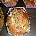 Mini cake courgette-feta