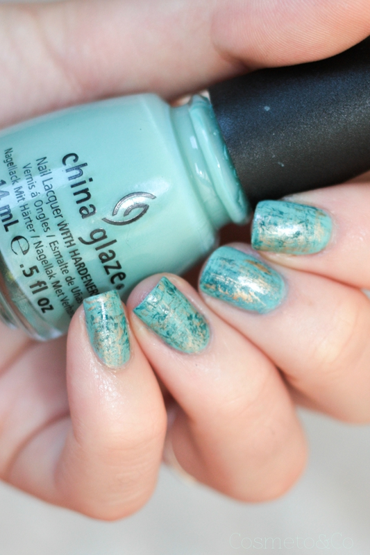 nail art turquoise fan brush-5