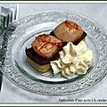 St jacques au boudin noir et compote coings curry, crème camembert-citronnelle