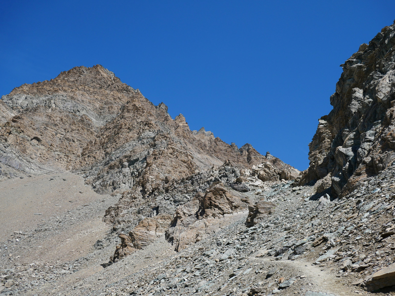 vers le Col de La Rousse, sous La Punta Rossa
