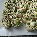 Wraps au thon, ricotta § curry
