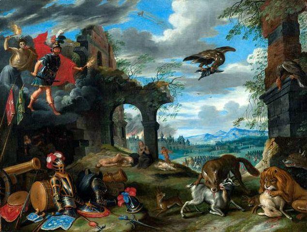 Brueghel Jan le Jeune-allegorie-de la Guerre-ca-1640-priv-uk