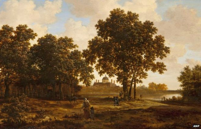 The Hague Forest with a View of Huis ten Bosch Palace is by 17th century Dutch master Joris van der Haagen