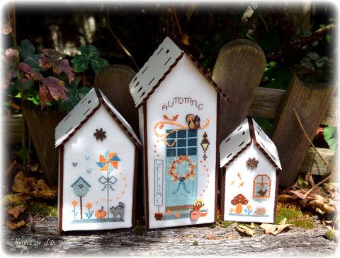 trio de nichoirs automne
