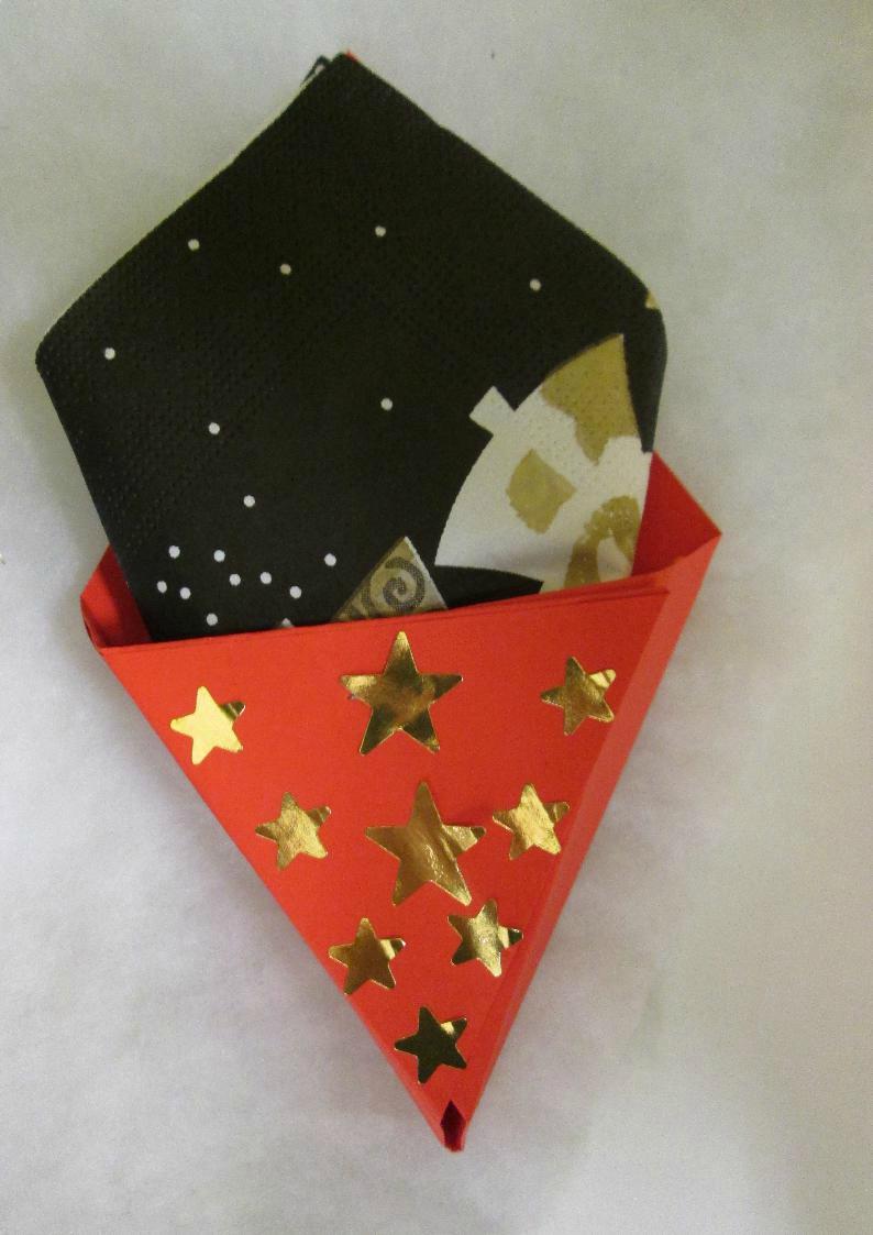 Le porte-serviette pour la table de Noël