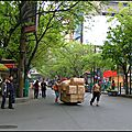 Dans les rues de chongqing, chine