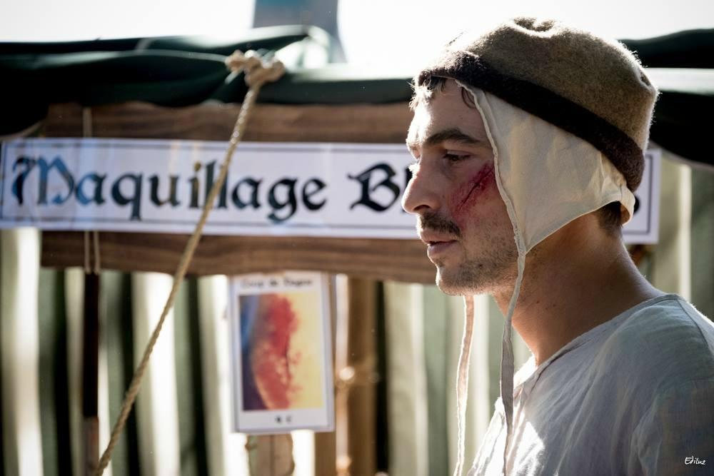 Atelier maquillage, comme de vrais blessures!