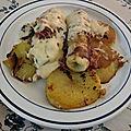 Endives et pommes de terre braisées au lard