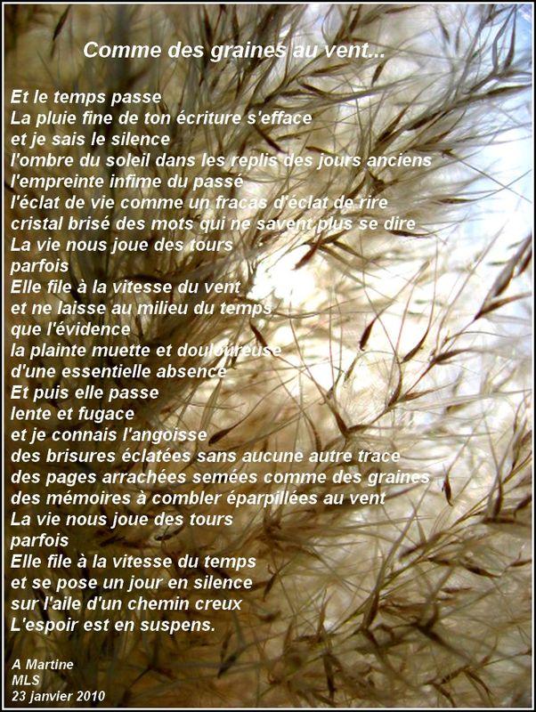 Comme Des Graines Au Vent Line In Blog