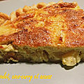 Quiche au poulet, coco-curry et ananas